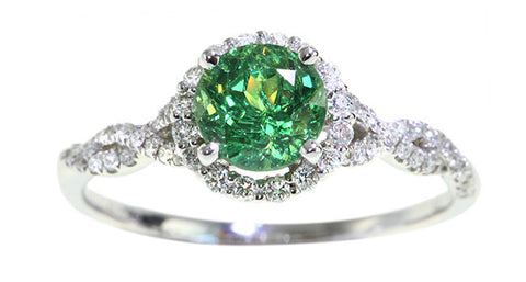 Demantoid Garnet Ring 1.30ct - Far East Gems & Jewellery