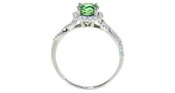 1.30ct Demantoid Garnet Ring - Far East Gems & Jewellery