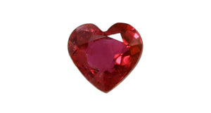 0.95ct Heart Shape Ruby - Far East Gems & Jewellery