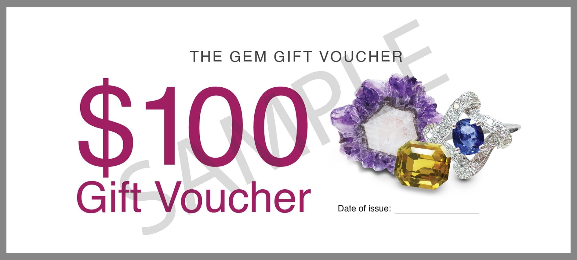 The Gem Gift Voucher -  $100 - Far East Gems & Jewellery