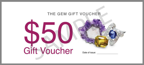 The Gem Gift Voucher -  $50 - Far East Gems & Jewellery