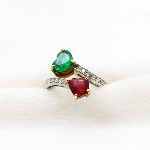 Ruby and Emerald Ring - Far East Gems & Jewellery