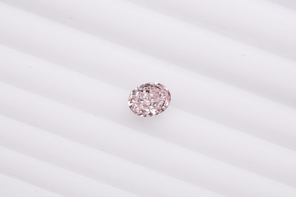 Fancy Intense Purplish Pink Diamond VS2 OVAL 0.31ct - Far East Gems & Jewellery