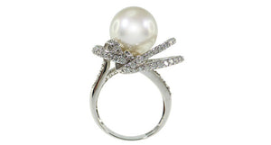 Pearl Ring with Diamond - Far East Gems & Jewellery