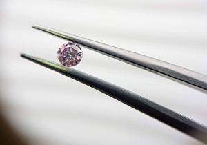 Pink Diamond 0.15ct Round Fancy Purple Pink - Far East Gems & Jewellery
