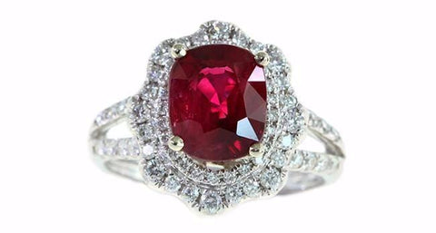 3.08ct Ruby and Diamond Ring - Far East Gems & Jewellery