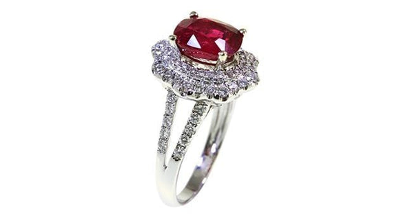 Ruby Diamond Ring 3.08ct - Far East Gems & Jewellery