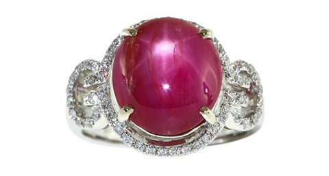 7.48ct Star Ruby Ring - Far East Gems & Jewellery
