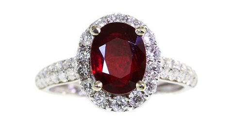 2.19ct Ruby Ring - Far East Gems & Jewellery