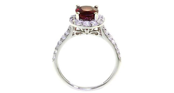 Ruby Ring 2.19ct 18k white gold with Diamonds - Far East Gems & Jewellery