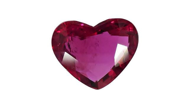 2.25ct Ruby, Heart, Thailand H(A)