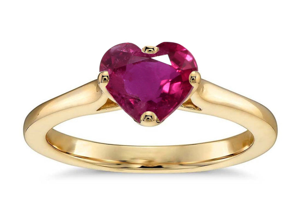 ruby 0.95ct heart shape