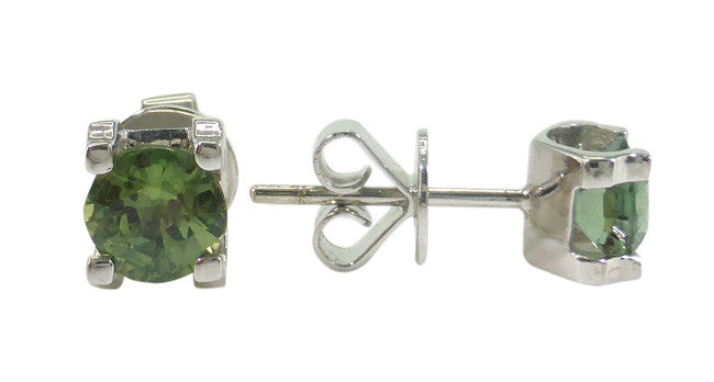 Green Sapphire Earrings - Far East Gems & Jewellery