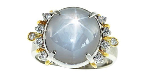 Star Sapphire Ring 14.70ct - Far East Gems & Jewellery