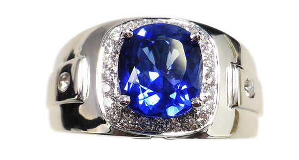 3.07ct Blue Sapphire Ring - Far East Gems & Jewellery