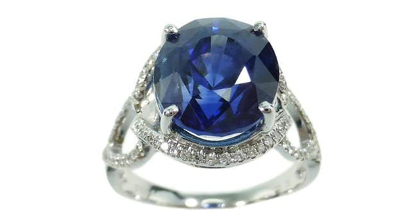 Blue Sapphire Ring 5.46ct - Far East Gems & Jewellery