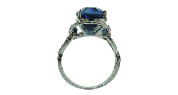 5.46ct Blue Sapphire Ring - Far East Gems & Jewellery