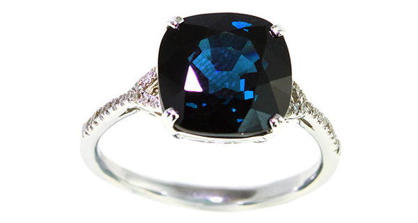 5.17ct Blue Spinel Ring