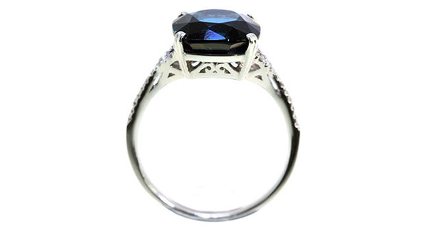 5.17ct Blue Spinel Ring - Far East Gems & Jewellery