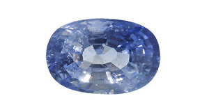 Blue Sapphire (Ice Blue), Oval 2.96ct - Far East Gems & Jewellery