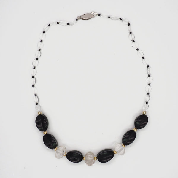 Onyx and Quartz Necklace - Far East Gems & Jewellery