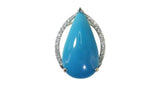 11.78ct Turquoise Pendant - Far East Gems & Jewellery