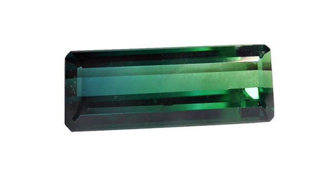 Tourmaline, Emerald Cut 8.76ct Blue Green - Far East Gems & Jewellery