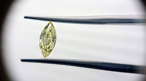 Fancy Yellow Diamond 0.54ct Marquise shape - Far East Gems & Jewellery