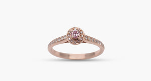 Round Pink Diamond Ring, 0.07ct - Far East Gems & Jewellery