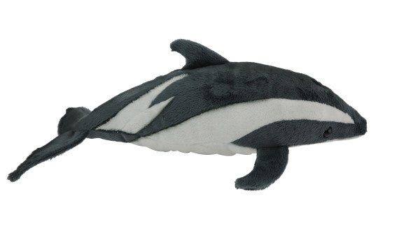 Dusky dolphin soft toy with sound