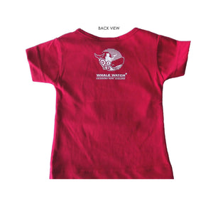 New Zealand made infant t-shirt in red
