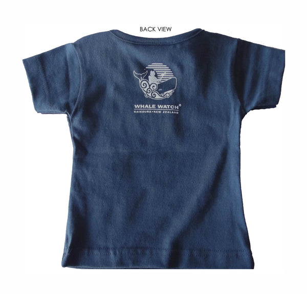 New Zealand made infant t-shirt in blue