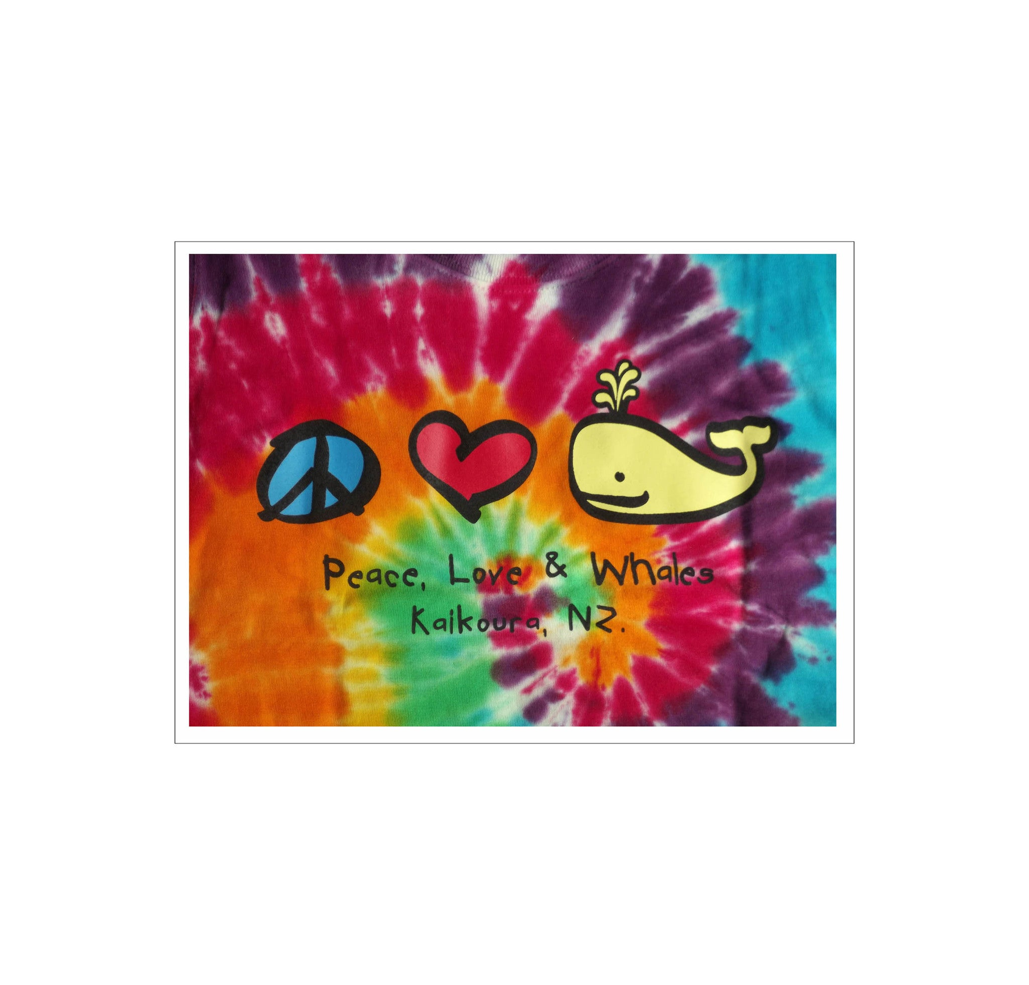 Adult Peace, Love & Whale T-shirt