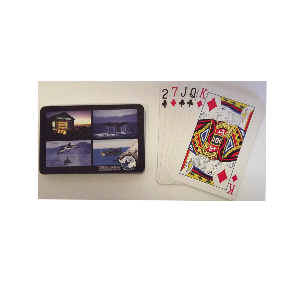 Whale Watch Kaikoura branded playing cards