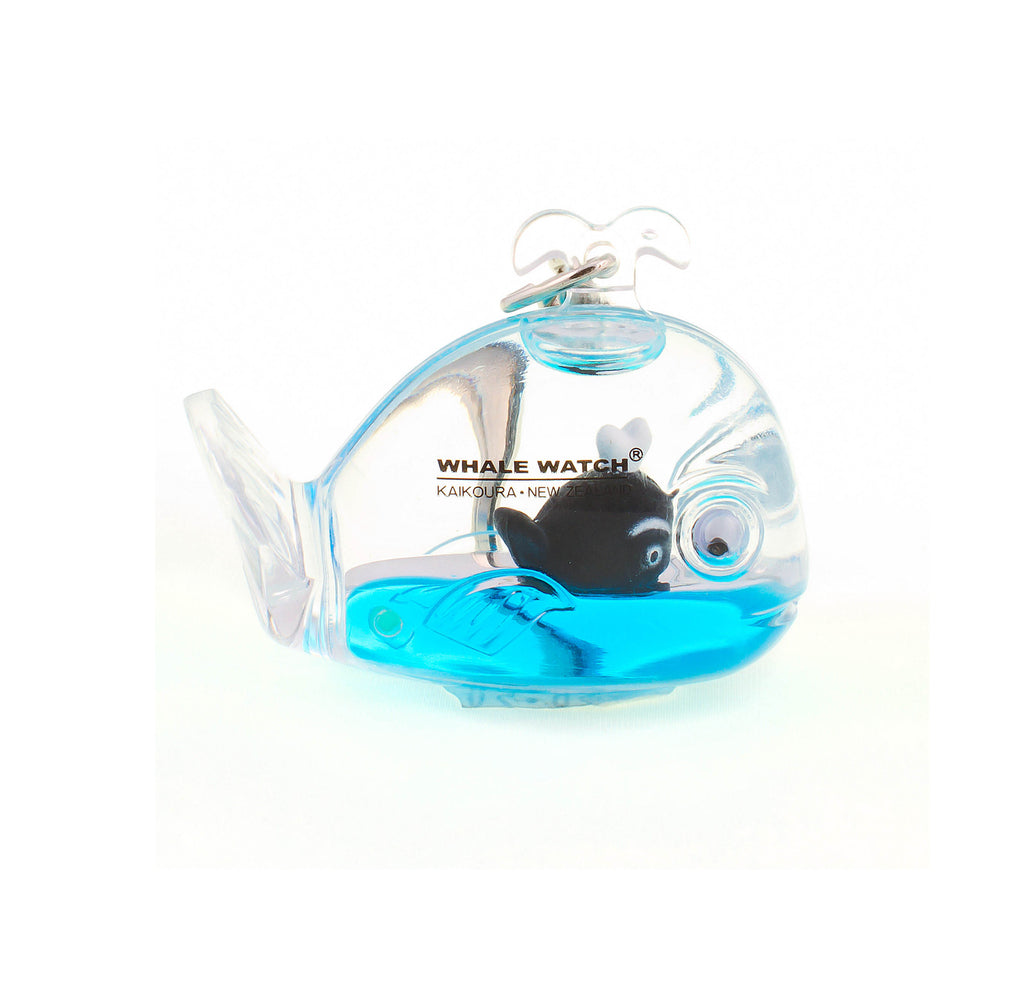 Floating whale keyring