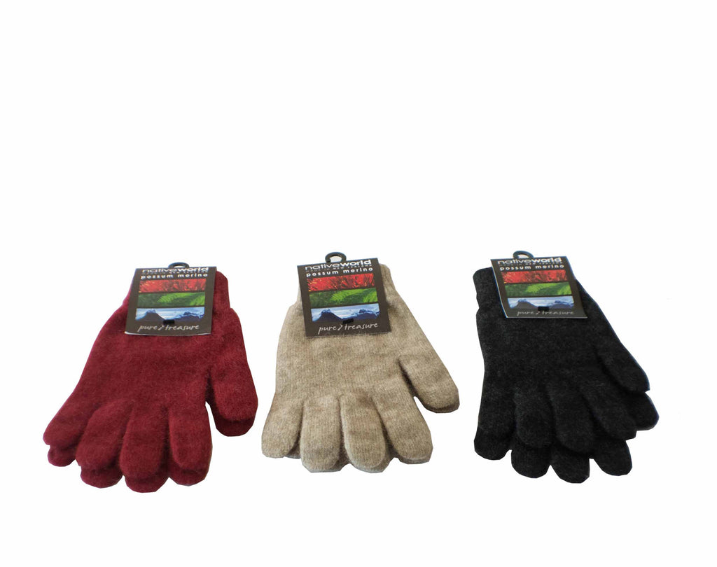 Merino Plain Glove Black/Twilight/Berry NX100