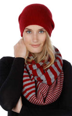 Two Tone Endless Scarf - Striped