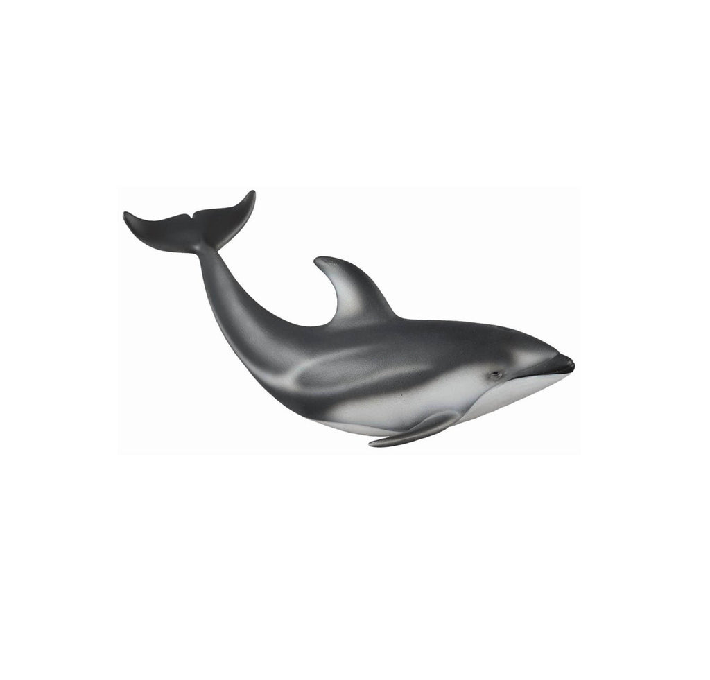 White sided dolphin toy figurine