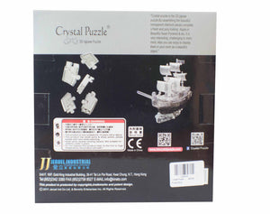 3D Puzzle - Crystal Black Pirate Ship