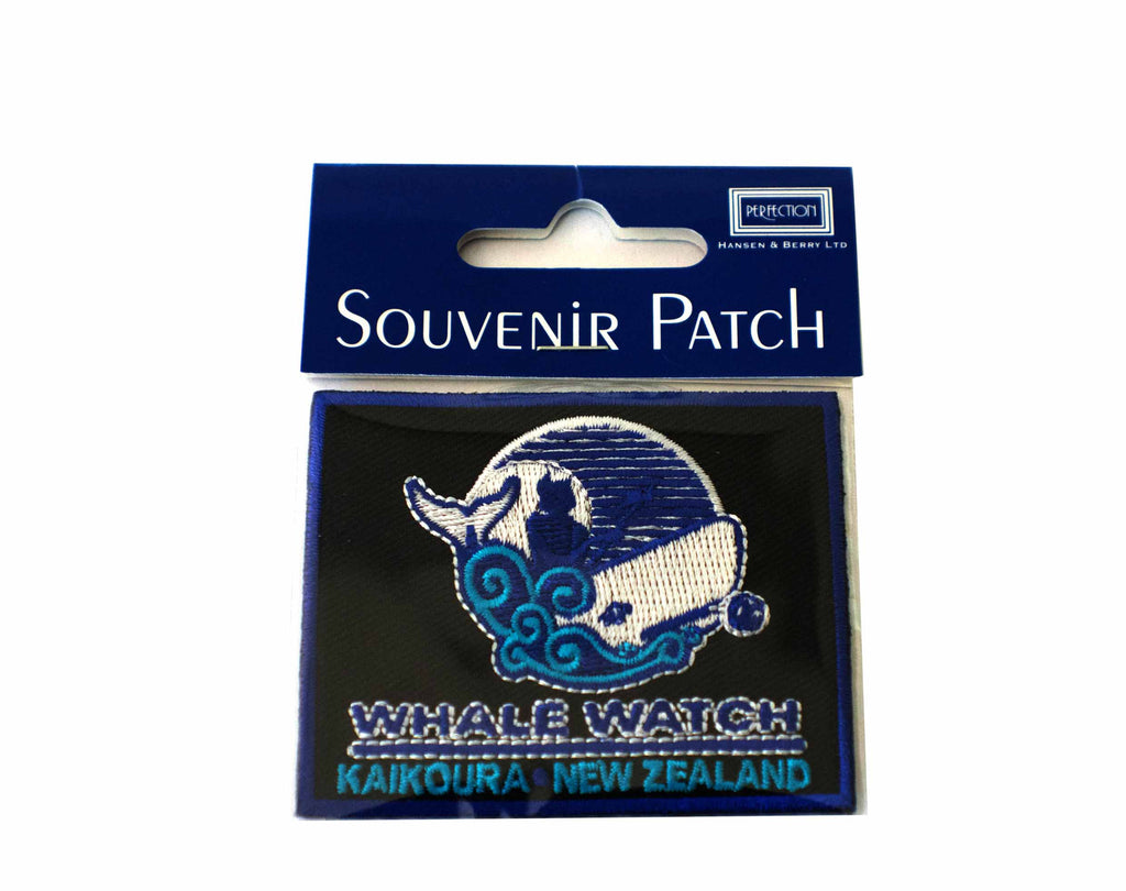 Whale Watch Kaikoura embroidered patch