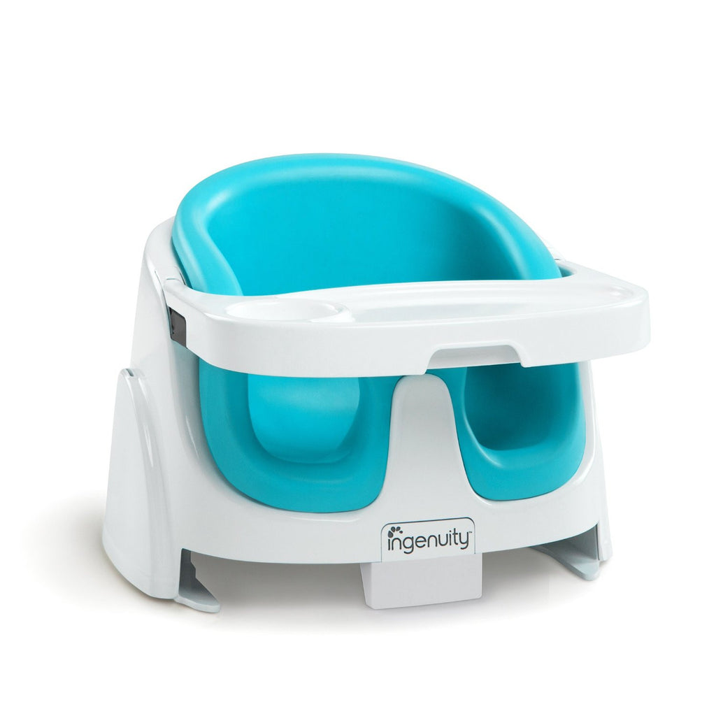 ingenuity baby base 2 in 1 booster seat aqua the pampered pickle