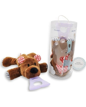 NISSI & JIREH 4-In-1 Pacifier holder Plush toy Teether