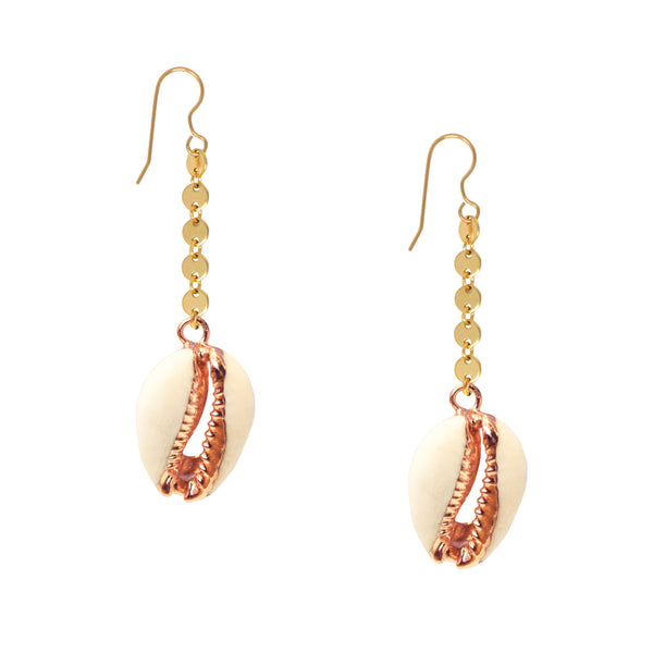 Cowrie Shell Disco Earrings
