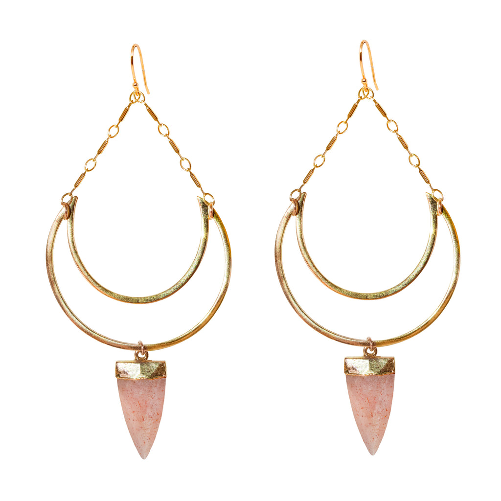 Peach Goddess Earrings