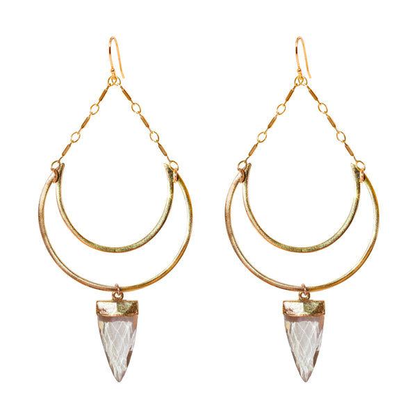 Quartz Goddess Earrings