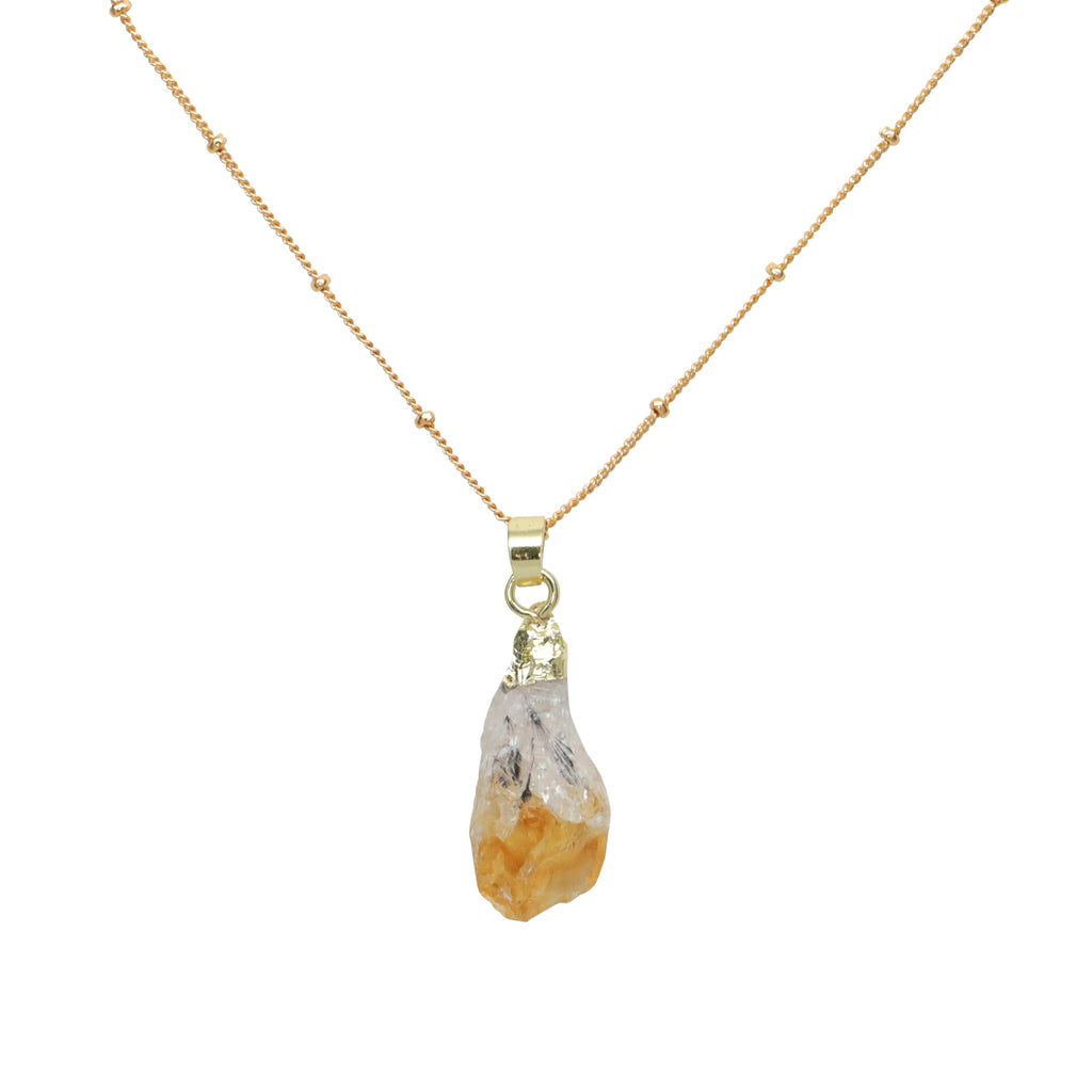 Citrine Stone Necklace