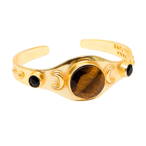 Tiger Eye Crescent Bangle