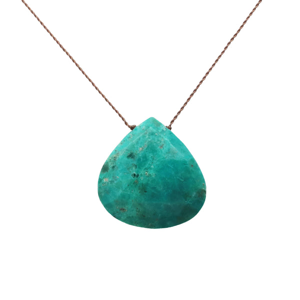 Chrysocolla Stone on a String