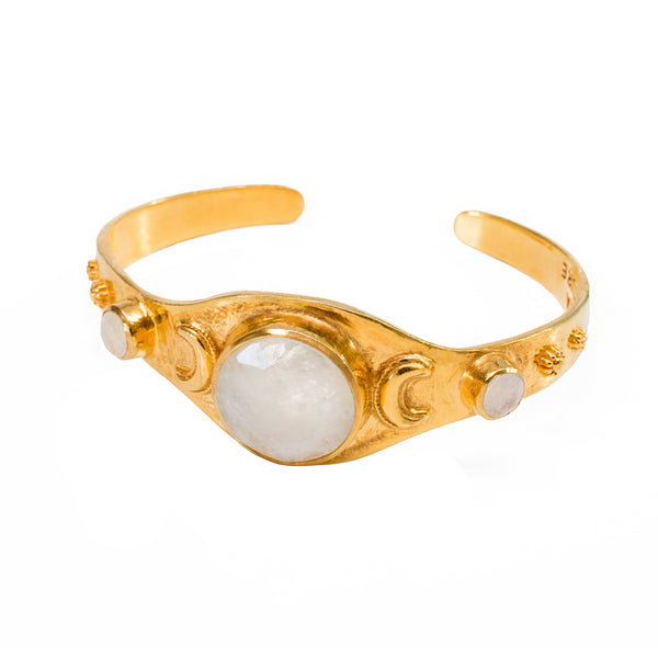 Moonstone Crescent Bangle