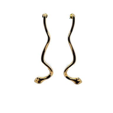 Brass Snake Earrings